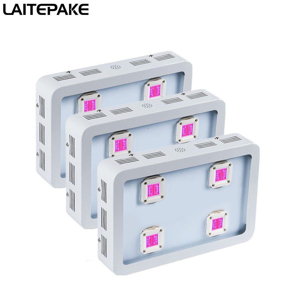 LAITEPAK 3pcs 1200W COB LED Grow Light Kit  Full Spectrum 410-730nm For Indoor Plants Growing And Flowering With Very High Yield
