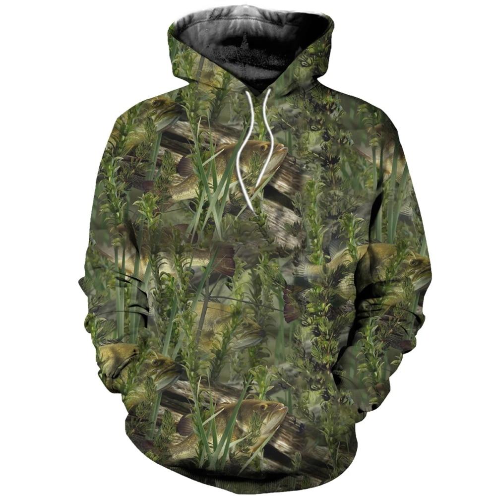 Drop Shipping 3D Printed Fishing Camo Hoodies Fashion Men Sweatshirt / Zip Hoodie Unisex Casual Hoody Pullovers Streetwear