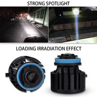 1 Set L1 LED Laser Fog Headlight Light Bulb H7 H8 H9 H11 9005/06 26W 2600LM 3000M Laser Meter Irradiation Distance Ultra Bright