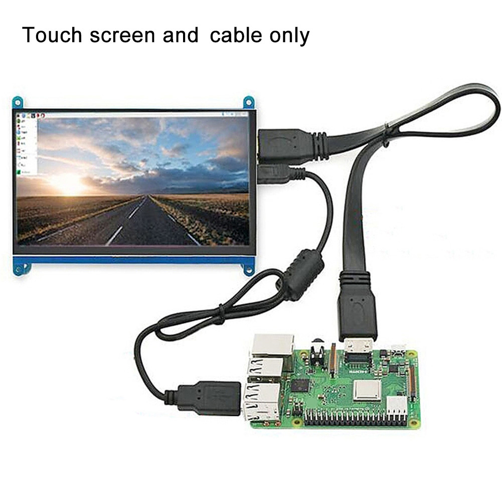 7 Inch Touch Screen Easy Install 1024x600 HD Accessories Capacitive HDMI LCD Display Monitor Practical Gaming For Raspberry Pi