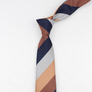 Men Business Tie 6-7cm Width Striped Plaid Designer Jacquard Wedding Necktie Narrow Classic Ties 1200 Needles Polyester Neckwear
