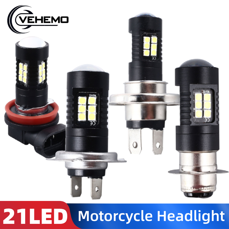 P15D H4 H7 H11 1PC Motorcycle Headlight LED Head Lamp For Car 21LED 7000K 420ML LED H4 Log Light
