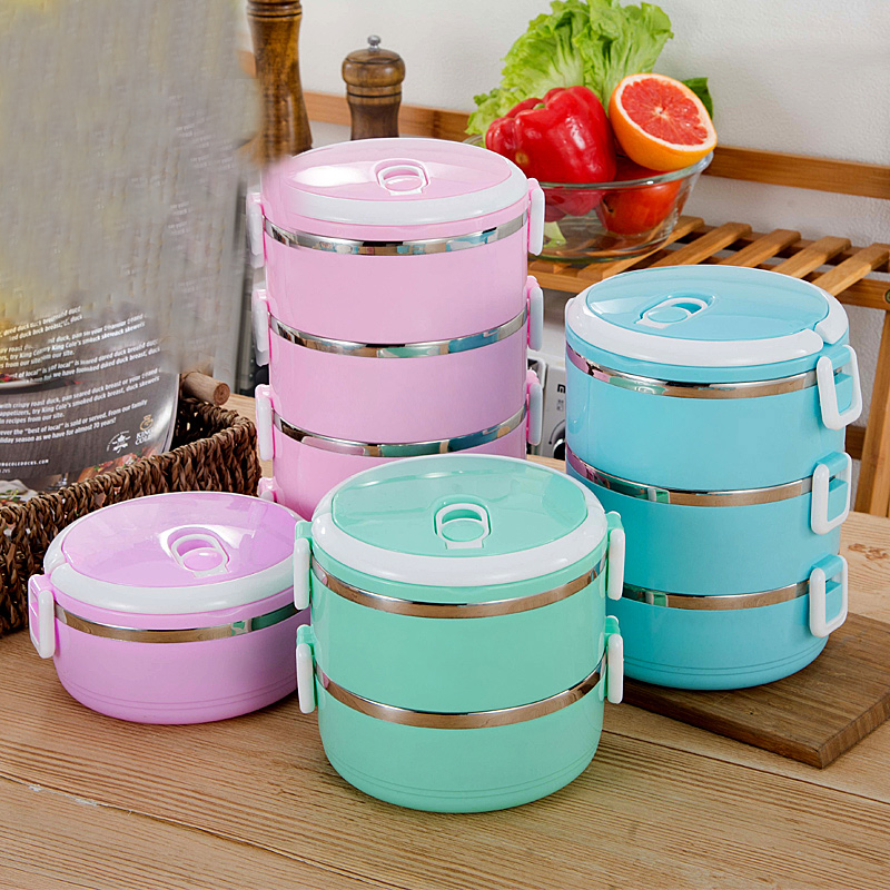 Hifuar Portable Lunch Box Bento Box Stainless Insulation Lunchbox Kid Food Thermal Container Picnic Leak Proof Case Snack Box|Lunch Boxes| |  - title=