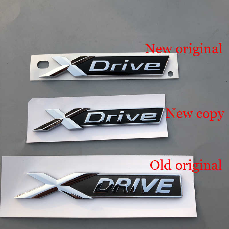 Chrome Shiny Silver SDrive Rear Emblem Badge Sticker For BMW XDrive TRUNK FENDER