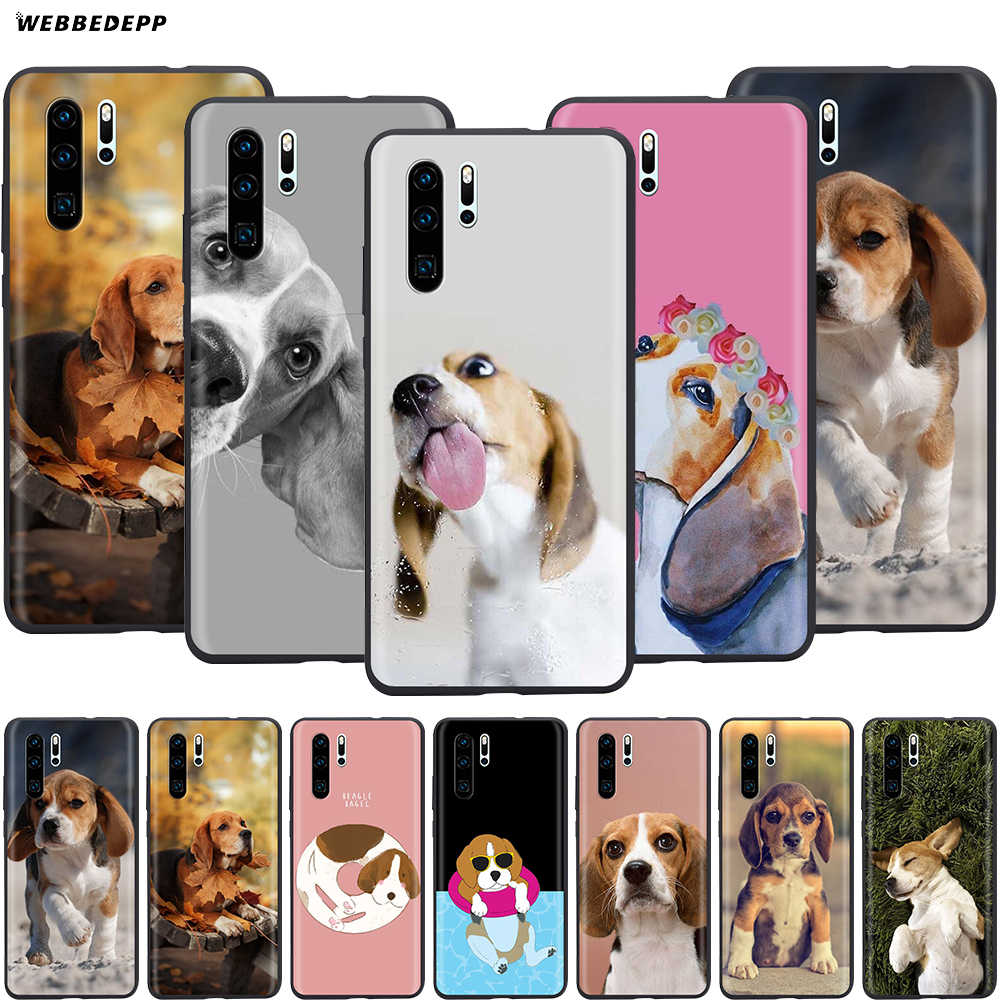 Webbedepp perro Beagle para Huawei P8 P9 P10 P20 P30 Lite Pro P Smart Z 2019 Mini 2019
