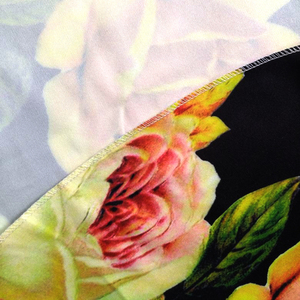 Image 5 - 2019 Nieuwkomers Afrikaanse Dashiki Bloemen Patroon Print Jurk Korte Mouw Casual Afrikaanse Jurken Voor Vrouwen