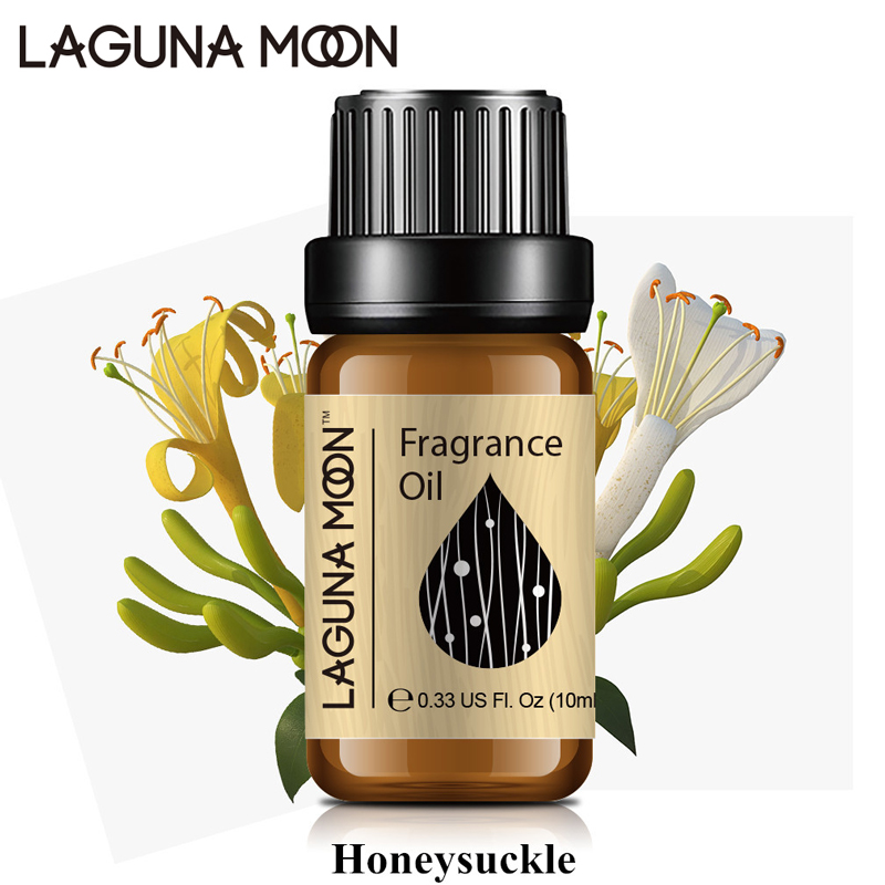 Lagunamoon Honeysuckle 10ml Fragrance Oil Fresh Linen Sea Breeze Lime Coconut Vanilla Mandarin Parma Violet Natural Plant Oil