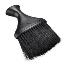 Черная щетка для удаления волос на шее парикмахерской стрижки