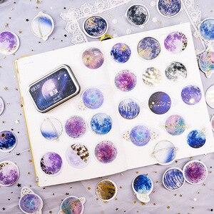 Image 3 - 20 takım/grup Kawaii kırtasiye çıkartmaları yıldız serisi sıcak damgalama dekoratif cep çıkartmalar Scrapbooking DIY el sanatları Sticker