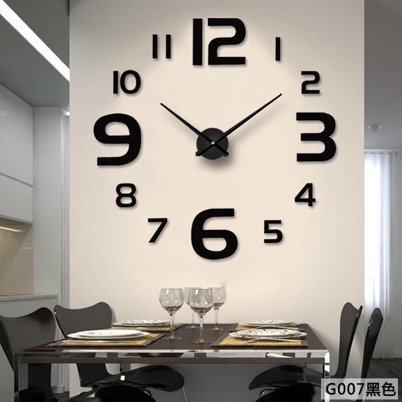 Digital DIY Wall Clock Modern Design Big Clocks Acrylic Creative Fashion Mirror Stickers Large Wall Watch Home Decor