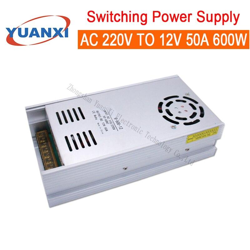 600W Switching Power Supply AC 110V-220V TO 12V 50A 600W