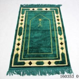 Image 5 - Cashmere Like Thick Prayer Mat Muslim 70*110cm Home Blanket Exquisite Decoration Bedroom Portable Namaz Islamic Praying Mats