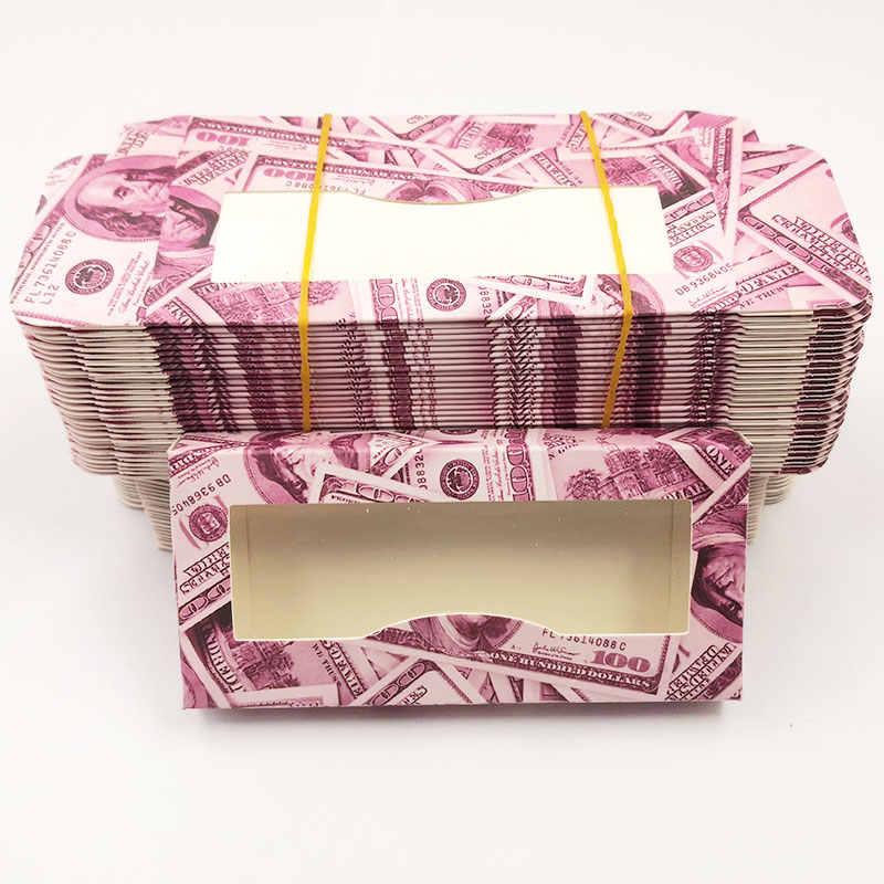 Vendita calda di Colore Rosa Morbido Ciglia di Carta Scatole di 50 pz/lotto di Imballaggio Vuoto Fit 25 millimetri 22 millimetri Lungo Della Sferza Dell'occhio