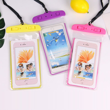 Mobile phone waterproof bag drifting diving swimming underwater mobile sports sets beach pool 6