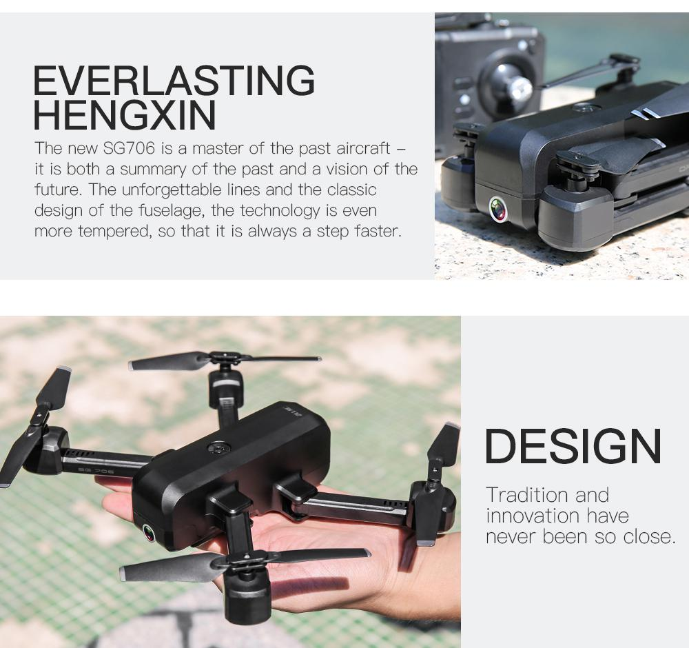SG706 Drone 4K HD Dual Camera Foldable Quadcopter Helicopter SG706 VS KF607 XS809S XS816 GD89 18