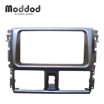 Double Din Fascia  for Toyota Yaris L 2013 2014Stereo Panel Radio DVD Dash Mounting Installation Trim Kit Face Frame Bezel