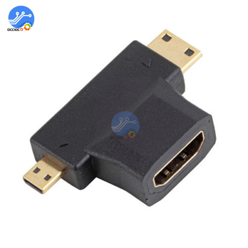 3 in 1 for HDMI-compatible Female to Mini Male/Micro Male Adapter Converter Connector for Tablet PC for HDMI-compatible Adapter