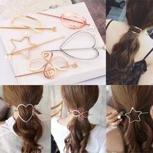 Новинка модные шпильки для волос вилка металлические китайские