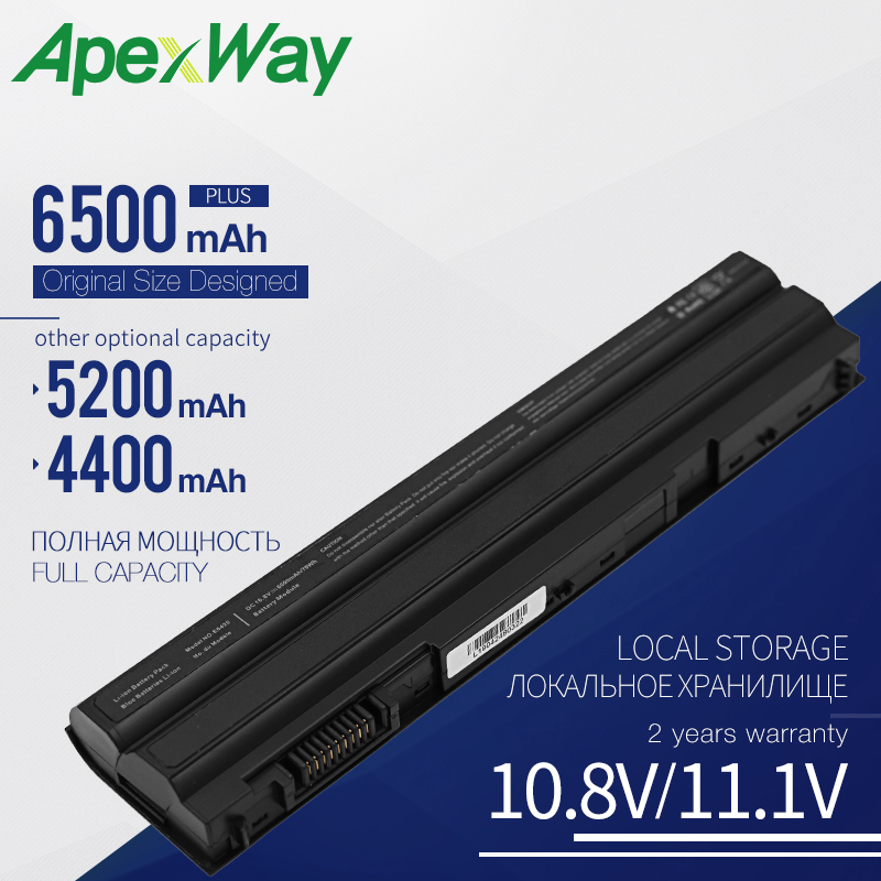 Apexway Laptop Battery T54FJ M5Y0X N3X1D P9TJ0 For Dell Latitude E6420 E6520 <font><b>E5520</b></font> E5420 E6430 E6530 NHXVW P8TC7 T54F3 HCJWT image