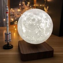 LED Floating Moon Light 3D Printing Night Light Magnetic Levitation Home Decoration Moon Light