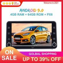 11.8 MAX PAD Android 9.0 4 + 64GB araba multimedya oynatıcı Toyota Corolla 2019 2020 için araba GPS navigasyon ana ünite otomobil radyosu Stereo