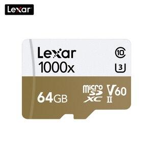 Image 2 - 100% オリジナルレキサー 150 メガバイト/秒 1000x マイクロ SD クラス 10 64 ギガバイトのマイクロ SDXC tf メモリカードリーダー uhs ドローンスポーツビデオカメラ