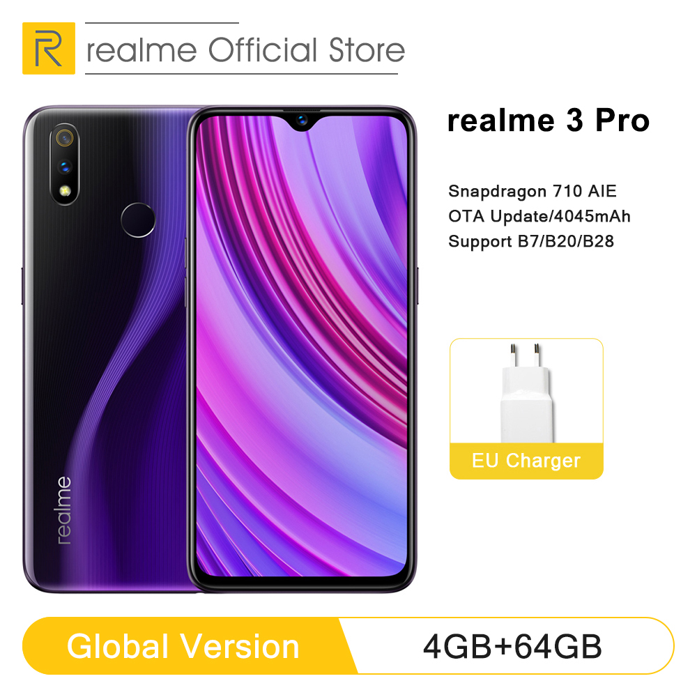 Global Version OPPO realme 3 pro <font><b>4GB</b></font> <font><b>RAM</b></font> <font><b>64GB</b></font> ROM Snapdragon 710 AIE Adreno 616 GPU Flagship-level Camera <font><b>Smartphone</b></font> image