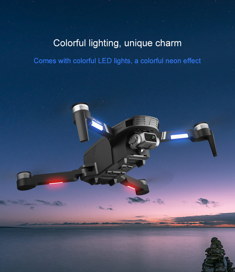 lowest price Profession GPS Drone With 4K Camer 2-axis Anti-shake Self-stabilizing Gimbal HD 5G WIFI FPV Brushless Quadcopter Support TF Card