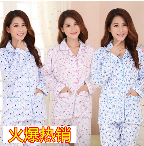 Pajamas Women's Spring And Autumn Mom Cardigan With Cotton Long Sleeve Tracksuit Summer Large Size Plus-sized Leisure Suit 5XL