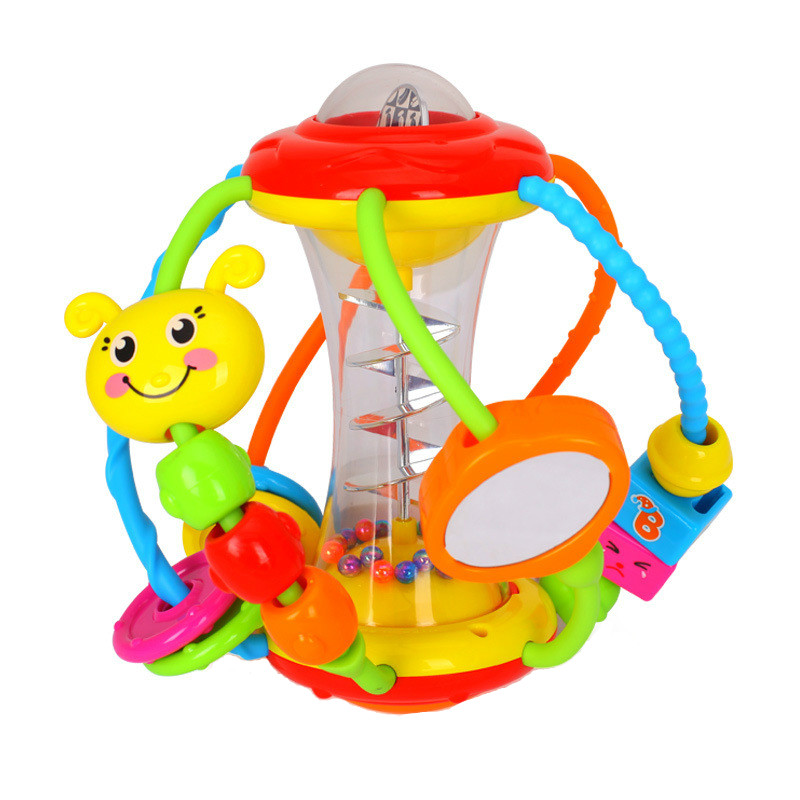 Baby Rattle Ball Rattle Educational Toy Children'S Fun Turn Ball Baby Catching Ball Puzzle Baby Toy Baby Sports Crawling Toy Sui