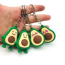 Bag Charms Key-Chain Jewelry Green Pendant Souvenir Gift Cute Fruit Sleutelhanger PVC