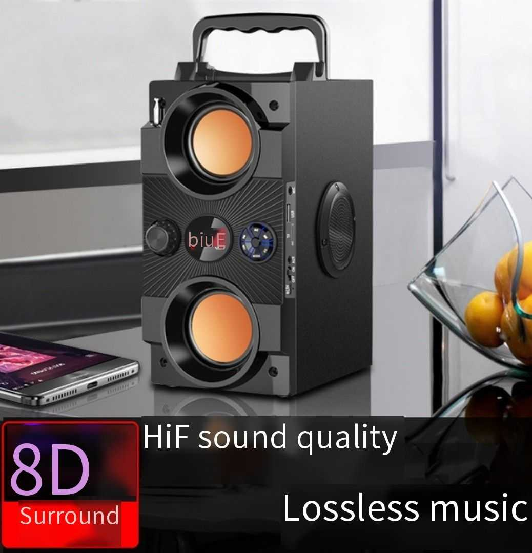 40W Big Power Dual Speaker Speaker Bluetooth Portabel Speaker Outdoor Subwoofer Boombox Kolom Suara Musik Pusat Dukungan AUX TF FM