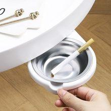 Cinzeiro escondido com tampa de aço inoxidável sob a mesa cozinha cigarros saco titular rack armazenamento casa mesa cenicero oculto