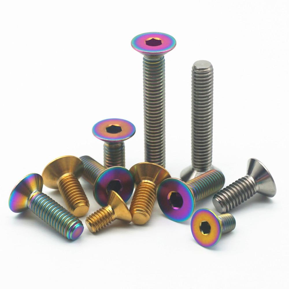 20pcs M5 x 25mm Hex Allen Socket Button Head Titanium Screw Screws