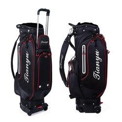 Bolsa de Golf multifuncional estándar Pgm, bolsas deportivas de viaje de gran capacidad, bolsas con soporte retráctil, bolsas Caddy con cerradura Tug D9113