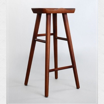 Nordic Bar Stool Modern Minimalist Bar Chair Solid Wood Home Creative Bar Chair Fashion High Stool