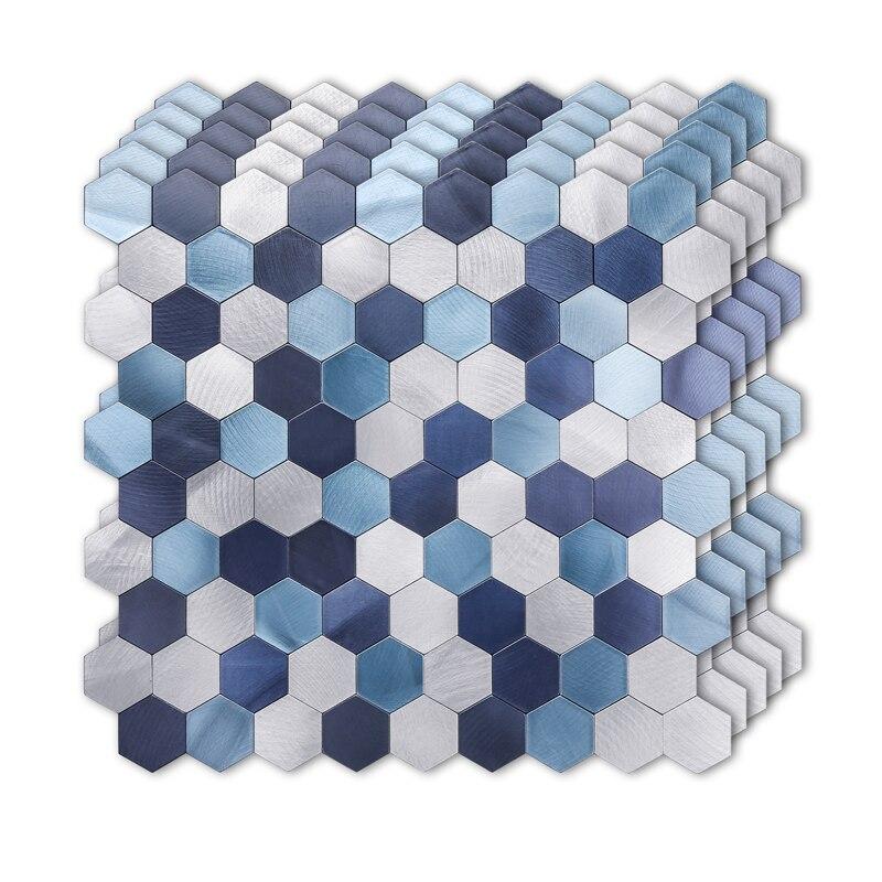 2020 peel and stick tile backsplash for kitchen wall decor metal mosaic smart tiles aluminum surface subway marble look panel
