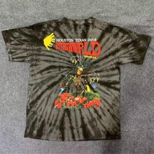 Travis Scott Astroworld Festival T Shirt Men Women Tie Dye Billie Eilish High Quality ASTROWORLD TRAVIS SCOTT T-shirts