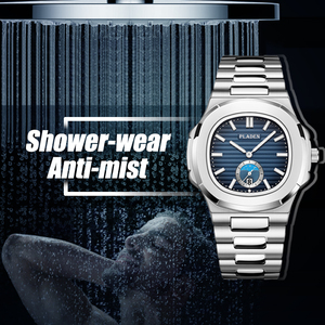 Image 3 - New Two Tone Gold Patek Watch Nautilus 5711 Designer Diving Watch Men Black Dial Chronograph Steel Bracelet AAA Waterproof Watch