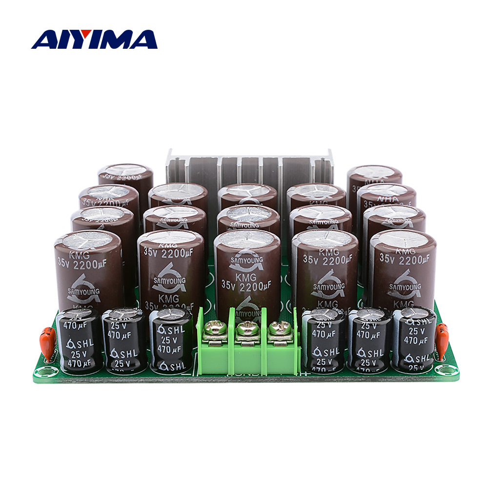 AIYIMA Rectifier Filter Preamplifier Power Supply <font><b>Audio</b></font> Rectifier Board 25A <font><b>2200uF</b></font> 35V High Power Current DIY For Home Theater image