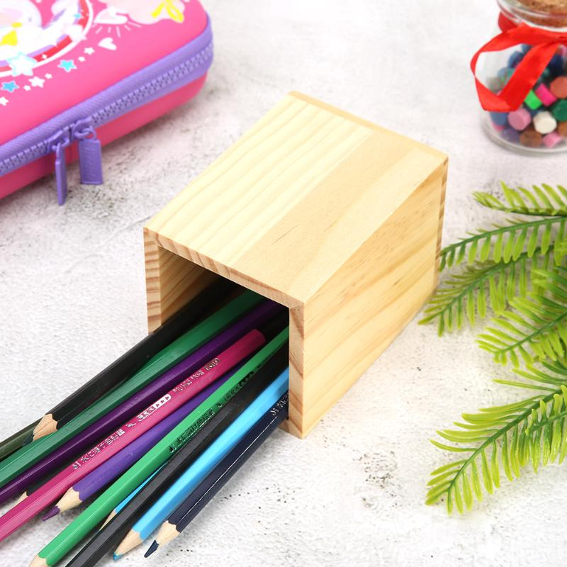 Us 4 31 28 Off Wooden Pen Holder Creative Desk Decor Multi Purpose Candlestick Tabletop Ornaments Mini Wood Plant Box Diy Crafts Organizer On