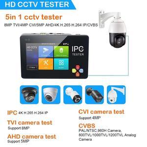 Image 2 - 3.5 inç H.265 4K IP CCTV Tester monitör IP AHD CVI TVI IP kamera test cihazı ONVIF PTZ WIFI 12V1A çıkış kablosuz WIFI video