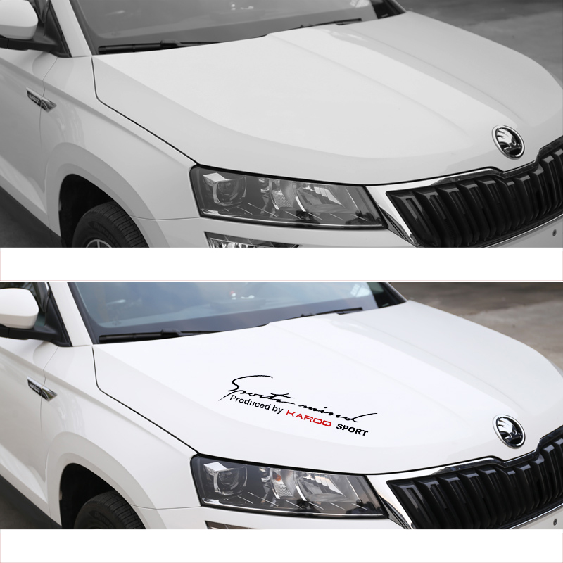 Lsrtw2017 Plastic Car Engine Hood Headlight Decorative Sticker for Skoda Kodiaq Karoq Interior Mouldings Accessories in Interior Mouldings from Automobiles Motorcycles