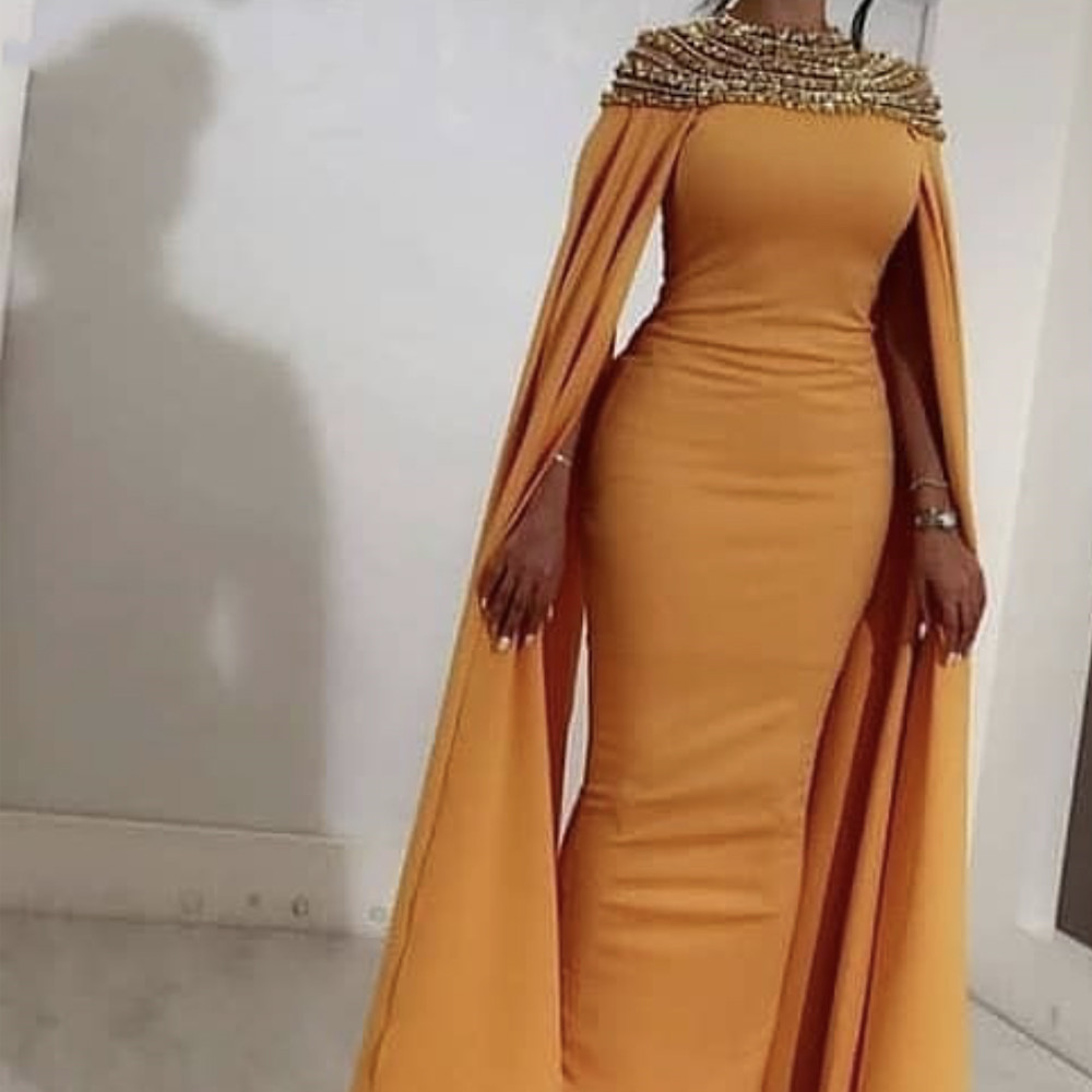 Prom Dresses With Sleeves Long Mermaid 2020 Long Saudi Arabia Luxury For Women Beading Formal Evening Party Gowns Plus Size