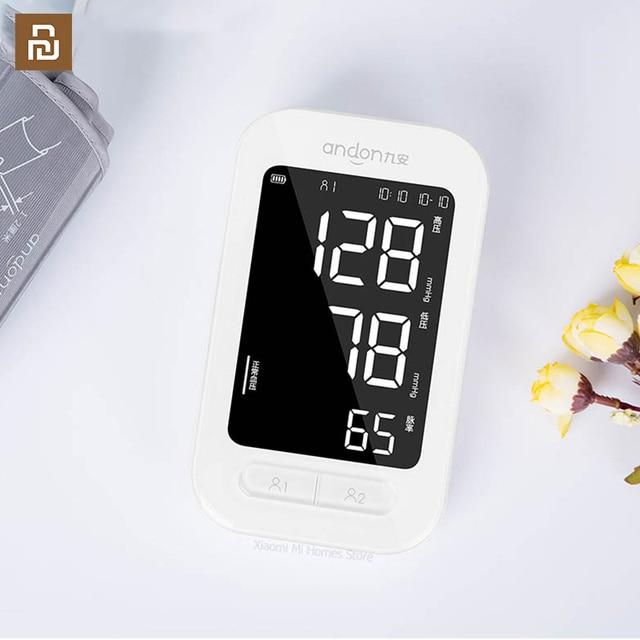 Andon Automatic Digital Blood Pressure Monitor Heart Rate Monitor Counter Portable Pulsometer Tonometer Sphygmomanometer