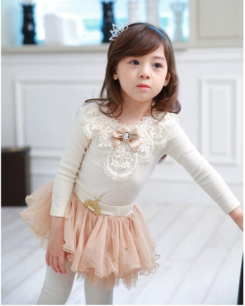 Top SaleGirls Blouse Shirt Clothing Kids Children Autumn Cotton Blusas 3-12 Yrs