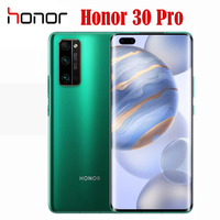 Original nuevo oficial Honor 30 Pro Kirin 990 5G SmartPhone OLED de 6,57 pulgadas Octa Core Android 10 OS 4000mah 8G ROM 128G RAM