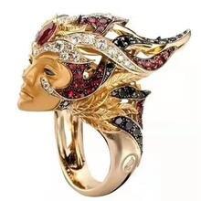 Бутиковое кольцо Трендовое изысканное многоцветное креативное