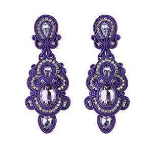 Image 4 - KPacTa Fashion Handmade Big Earrings Inlaid Ethnic Style Jewelry Ladies Crystal Decorative Accessories Pendant Earrings