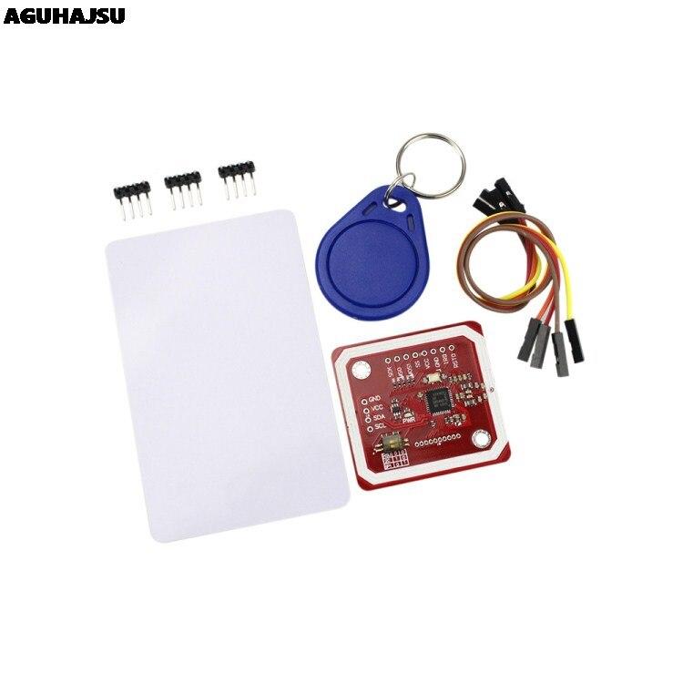 1 комплект, PN532 NFC RFID беспроводной модуль V3, устройство чтения записей, режим IC S50, печатная плата, комплект с I2C IIC SPI HSU для Arduino